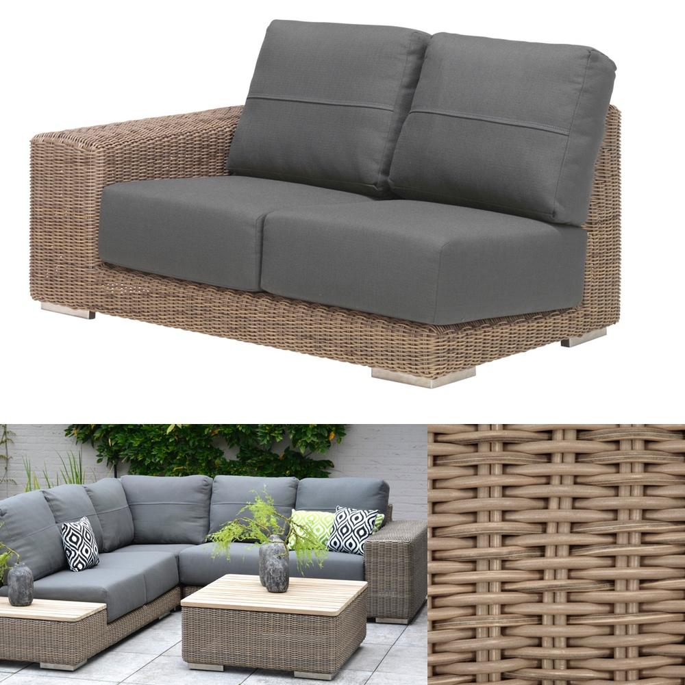 gartenbank 4seasons kingston pure 4er sofa korbcouch geflecht big sofa vom garten fachh ndler. Black Bedroom Furniture Sets. Home Design Ideas