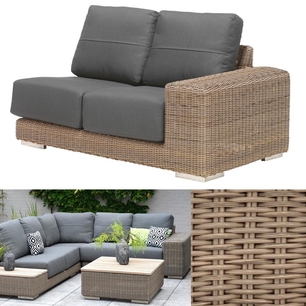 Gartenbank 4Seasons «Kingston PURE» 2er Sofa, Armlehne links, Loungeelement