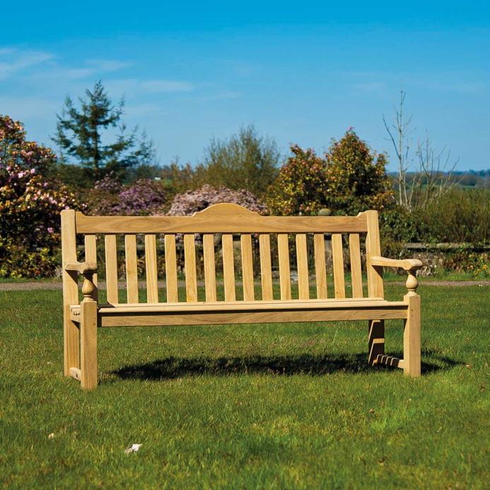 GartenmObel Holz Haltbarkeit ~   «Roble Rose» 3er Bank Gartenbank, Holz  Gartenmöbel Fachhandel