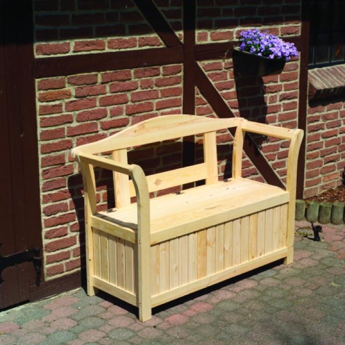 gartenbank friesenbank mit auflagenbox sitzbank. Black Bedroom Furniture Sets. Home Design Ideas