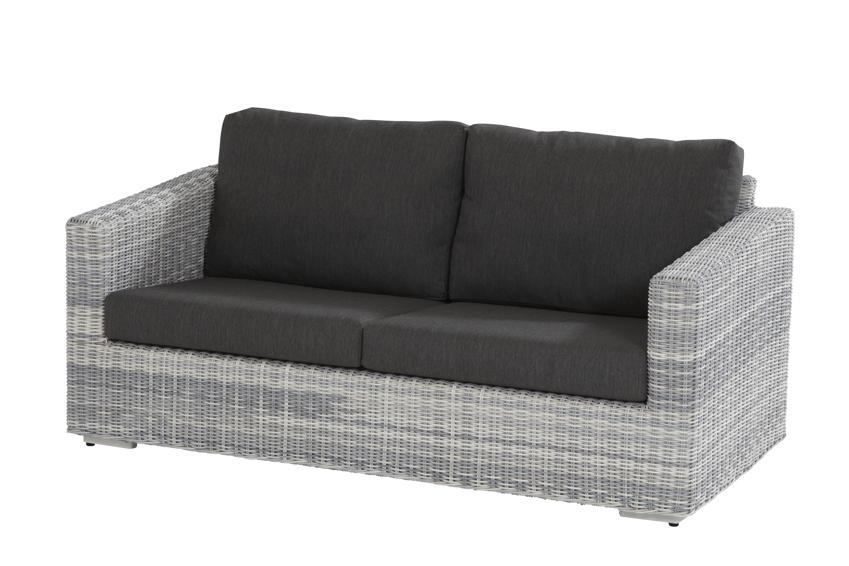 Polyrattan Gartenbank Edge Ice Sofa 2 5 Sitzer Geflecht Lounge