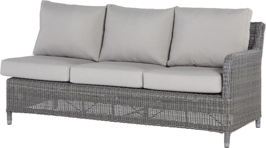 polyrattan gartensofa indigo rock 3er couch geflecht premium armlehne links holz angebot. Black Bedroom Furniture Sets. Home Design Ideas
