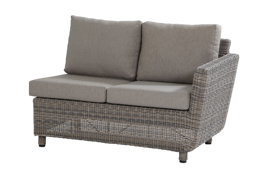 gartenbank fortaleza 2er sofa roca eckelement armlehne links geflecht rattan gartenm bel. Black Bedroom Furniture Sets. Home Design Ideas