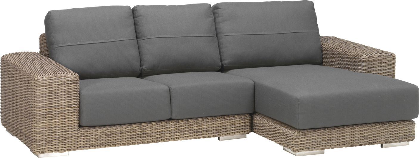 Sitzgruppe 4Seasons «Kingston PURE» Loungesofa, Korbcouch, mit Recamiere