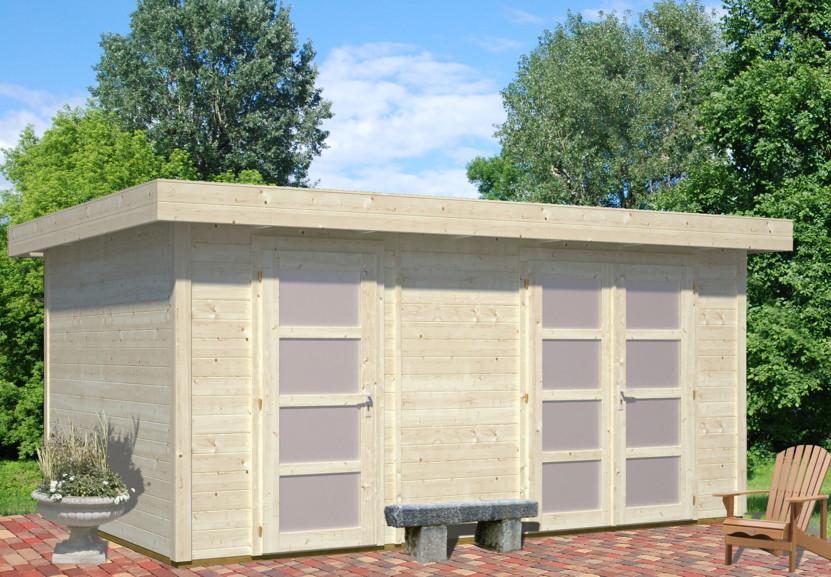 gartenhaus palmako kate flachdach gartenh user und. Black Bedroom Furniture Sets. Home Design Ideas