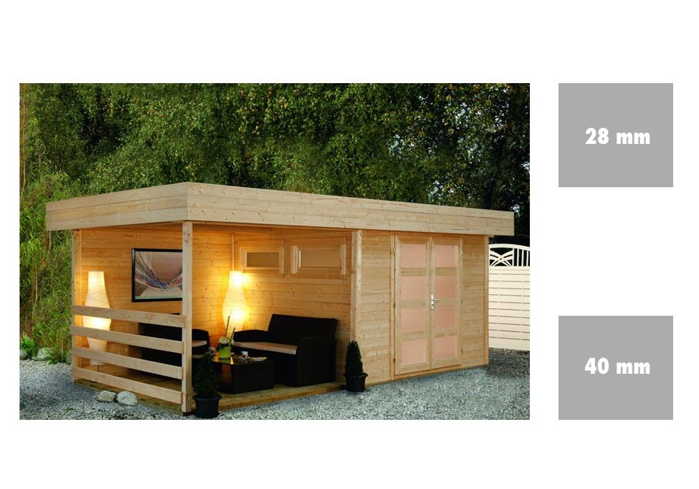 gartenhaus flachdach wolff varianta mit terrasse. Black Bedroom Furniture Sets. Home Design Ideas