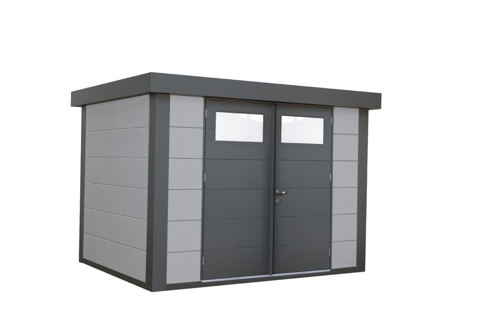 geratehaus-flachdach-metallgeratehaus-268x208-lichtgrau-doppeltur