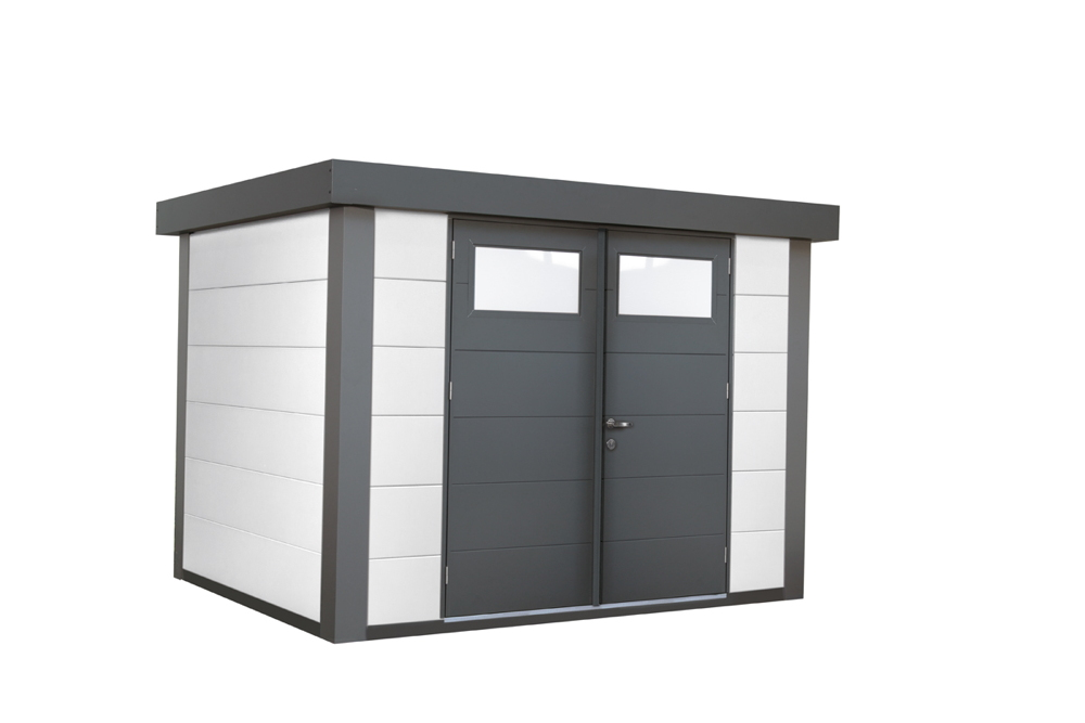 geratehaus-flachdach-metallgeratehaus-268x208-wei-doppeltur