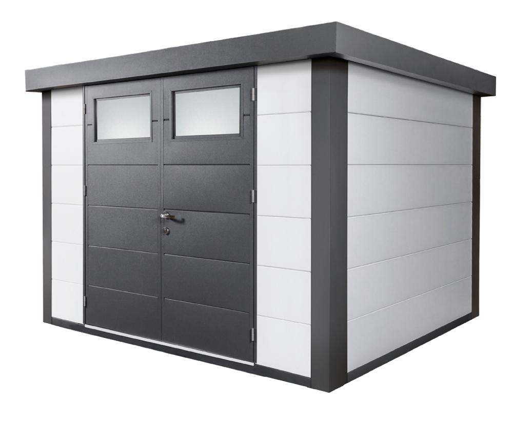 geratehaus-flachdach-metallgeratehaus-298x238-wei-doppeltur