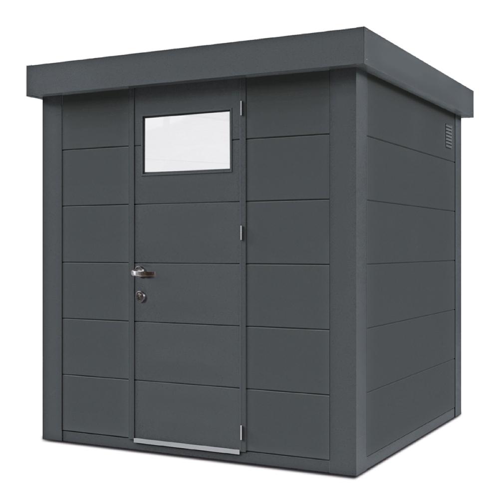 geratehaus-flachdach-metallgeratehaus-208x208-granitgrau-einzeltur