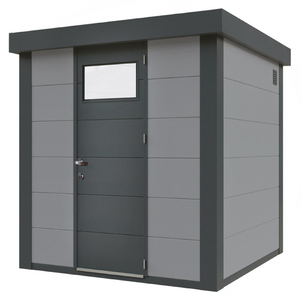 geratehaus-flachdach-metallgeratehaus-208x208-lichtgrau-einzeltur