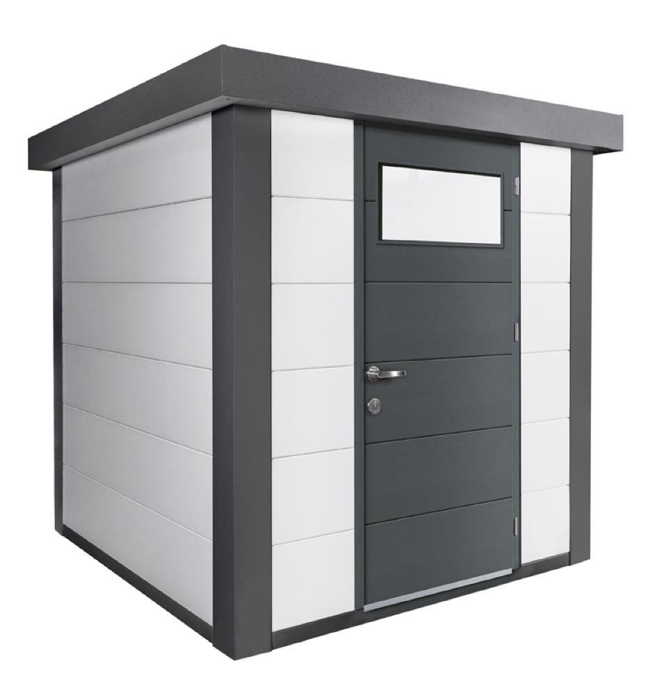 geratehaus-flachdach-metallgeratehaus-208x208-wei-einzeltur