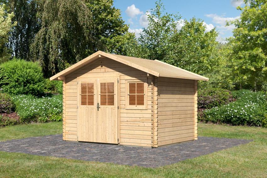 Gartenhaus KARIBU u00abBerneu00bb Holzhaus Bausatz : Gartenhaus ...