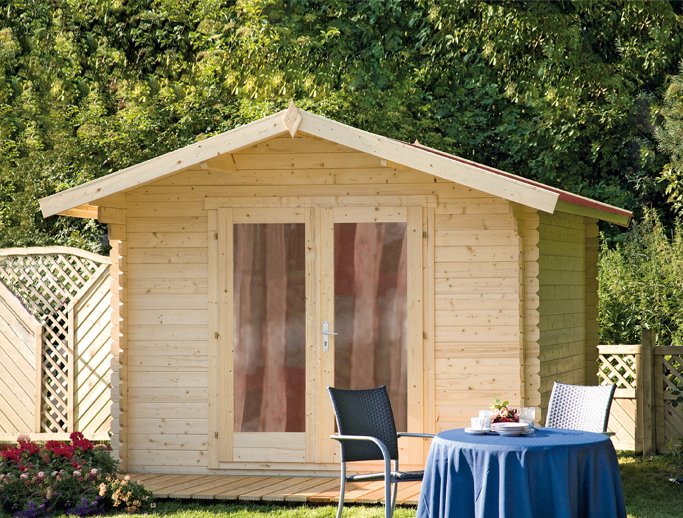 gartenhaus 300x300cm bausatz holzhaus holz gartenhaus doppelt r vom garten fachh ndler. Black Bedroom Furniture Sets. Home Design Ideas