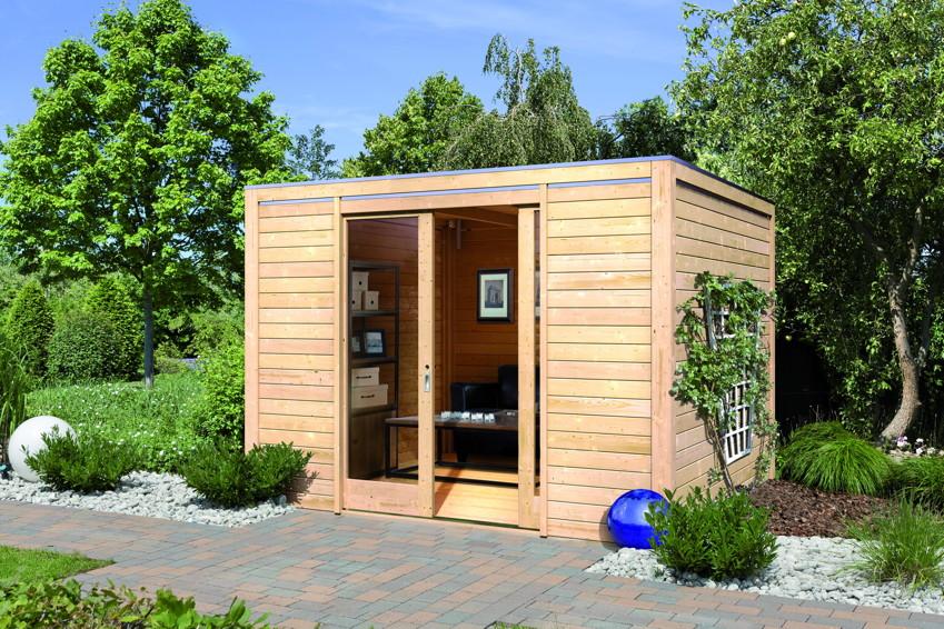 Gartenhaus Holz Endbehandelt ~ Gartenhaus KARIBU «CUBUS» Holz Haus Bausatz  Gartenhaus Gerätehaus