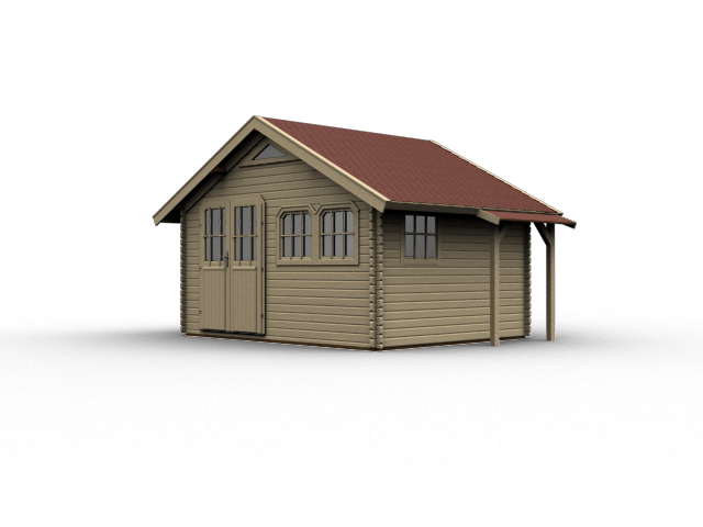 gartenhaus karibu doderic 5 ebay. Black Bedroom Furniture Sets. Home Design Ideas