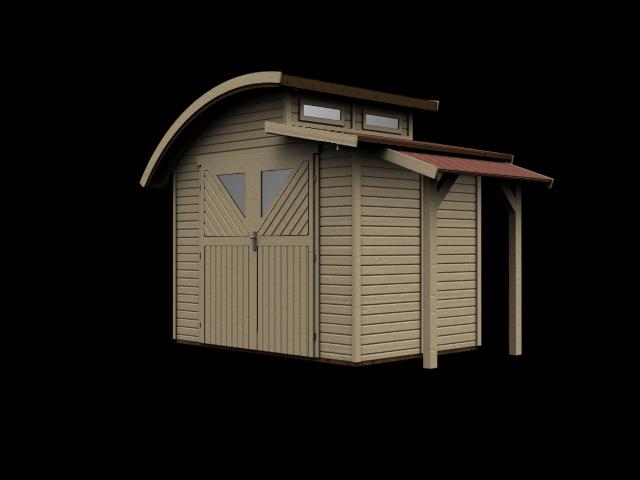gartenhaus karibu mellum 2 ebay. Black Bedroom Furniture Sets. Home Design Ideas