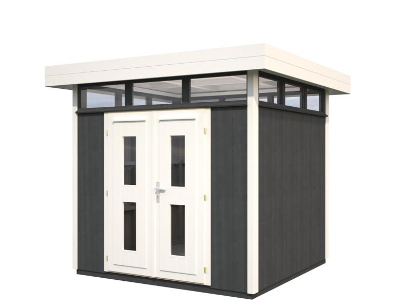 ger tehaus palmako york flachdach gartenhaus aus holz. Black Bedroom Furniture Sets. Home Design Ideas