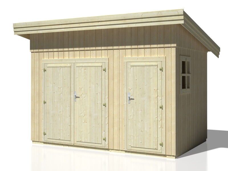 ger tehaus palmako frank 1 flachdach gartenhaus aus. Black Bedroom Furniture Sets. Home Design Ideas