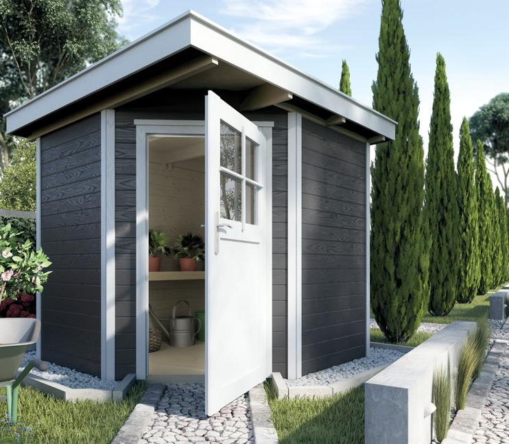 ger tehaus weka gartenhaus 229 flachdach gartenhaus holz. Black Bedroom Furniture Sets. Home Design Ideas