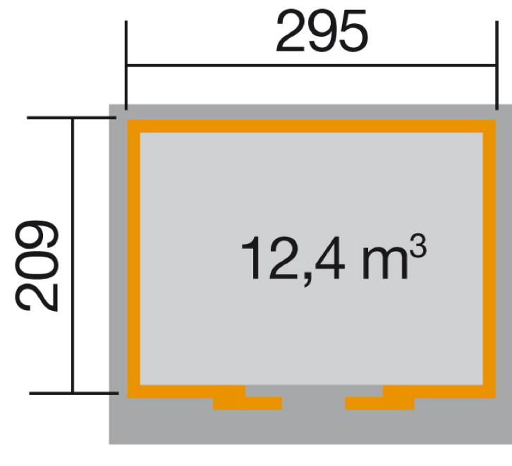 Schiebetür gartenhaus beschlag  Pultdach-Gerätehaus mit großer Schiebetür | eBay