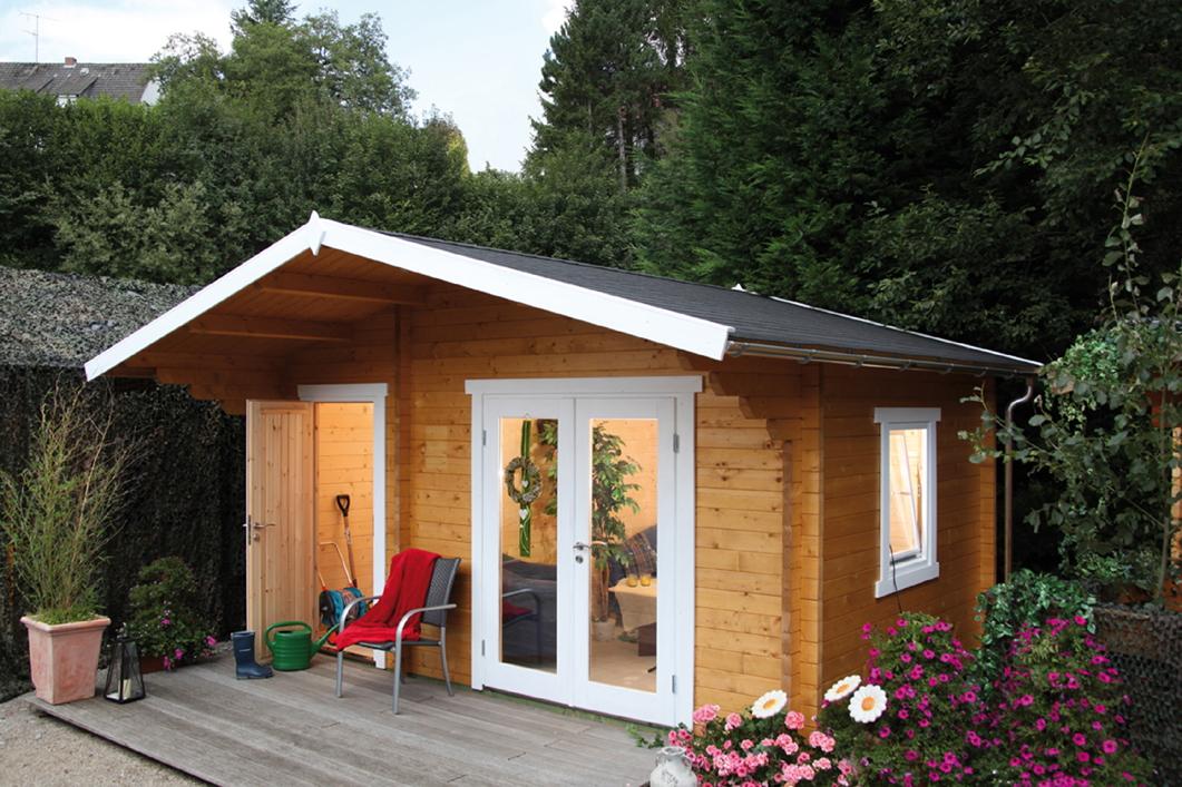 gartenhaus 450x300cm holzhaus bausatz 58mm modern 2 raum. Black Bedroom Furniture Sets. Home Design Ideas