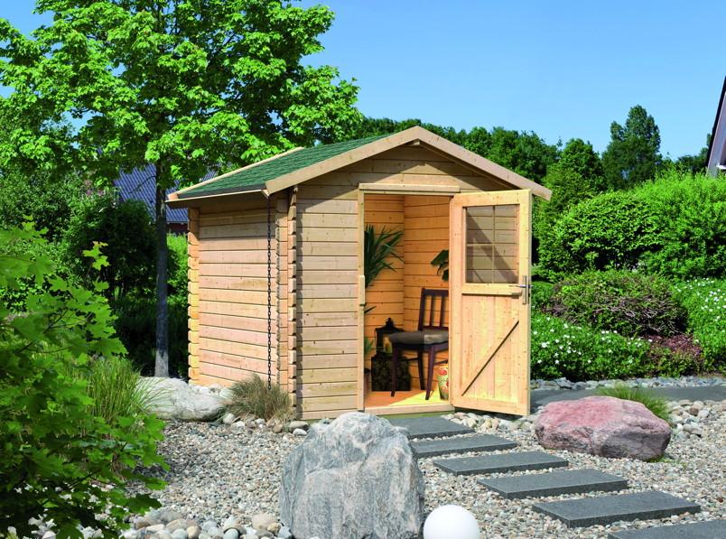 gartenhaus woodfeeling schwartau gartenhaus aus holz. Black Bedroom Furniture Sets. Home Design Ideas