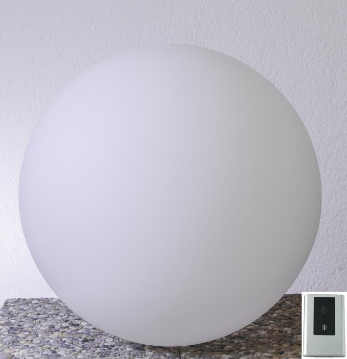gartenlampe aussenlampe snowball mit d mmerungsschalter runde leuchte gartenm bel fachhandel. Black Bedroom Furniture Sets. Home Design Ideas
