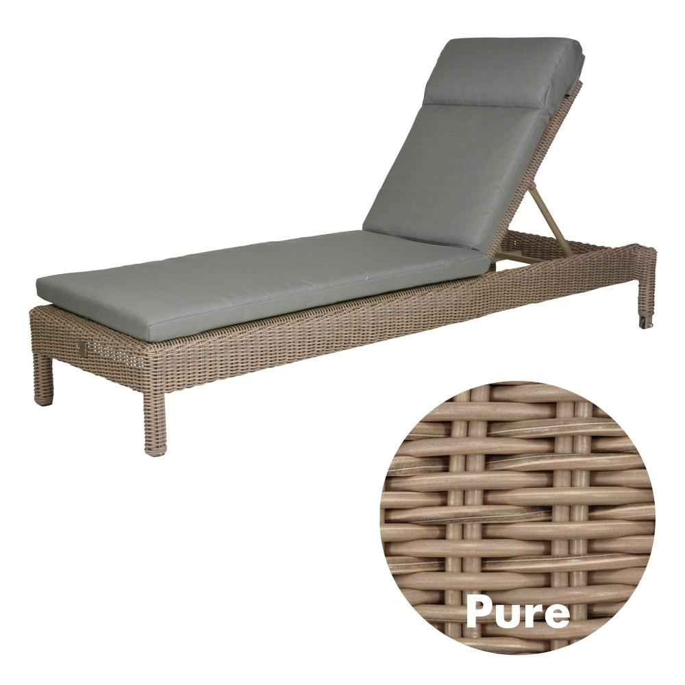 gartenliege 4seasons mambo pure stapelliege rattan mit auflage korbliege vom garten fachh ndler. Black Bedroom Furniture Sets. Home Design Ideas