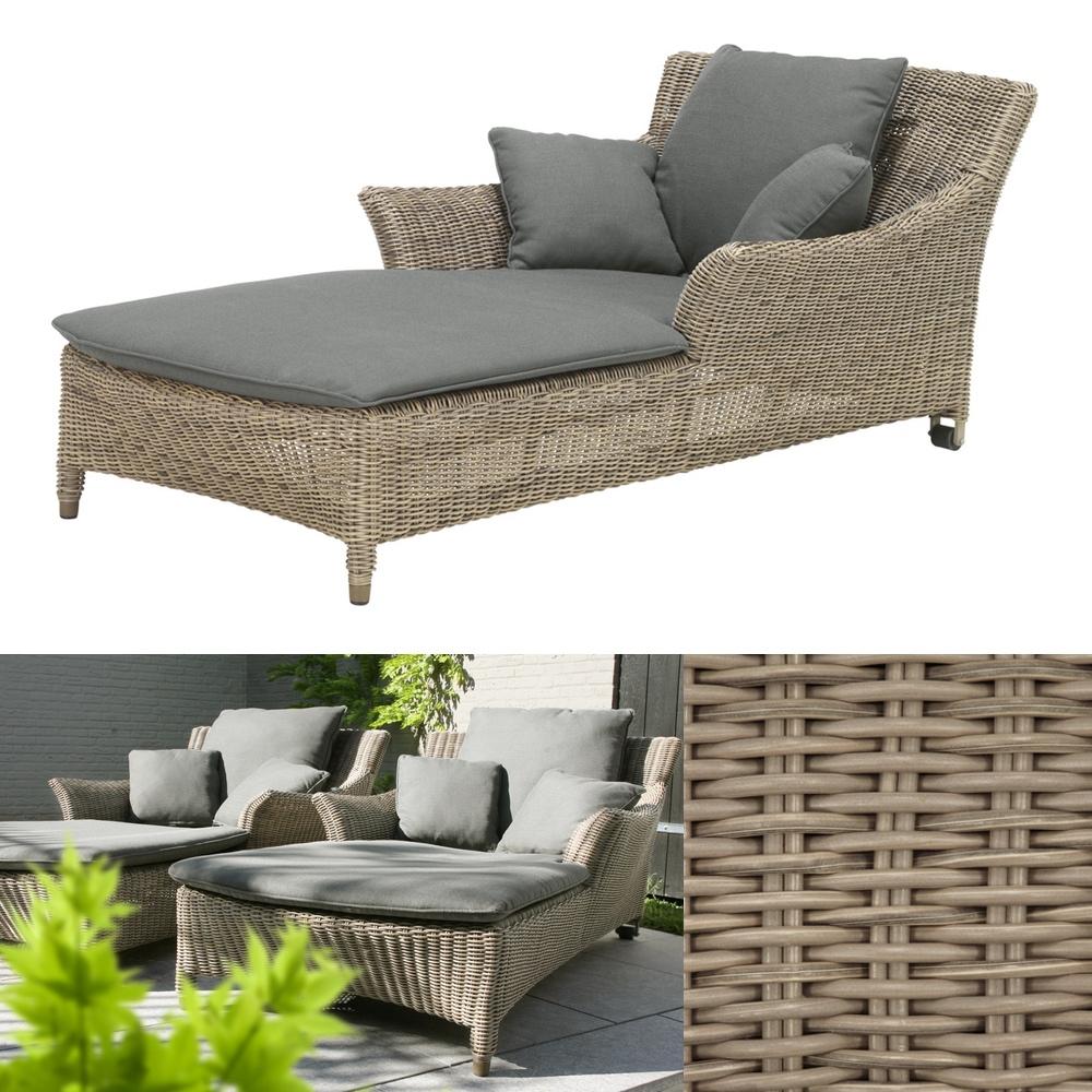 gartenliege 4seasons valentine pure liege korbliege geflecht rollen gartenm bel fachhandel. Black Bedroom Furniture Sets. Home Design Ideas