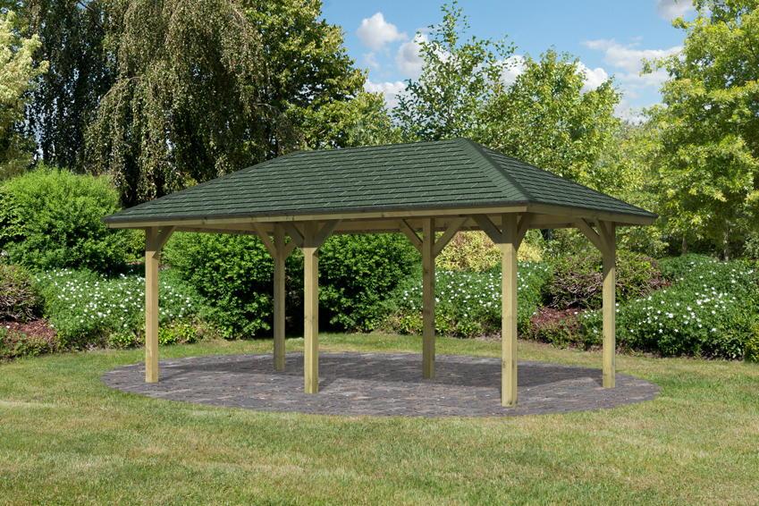 Gartenpavillon Holz Rechteckig ~   Eck Holz Pavillon  Pavillon Garten Laube aus Holz Pavillion