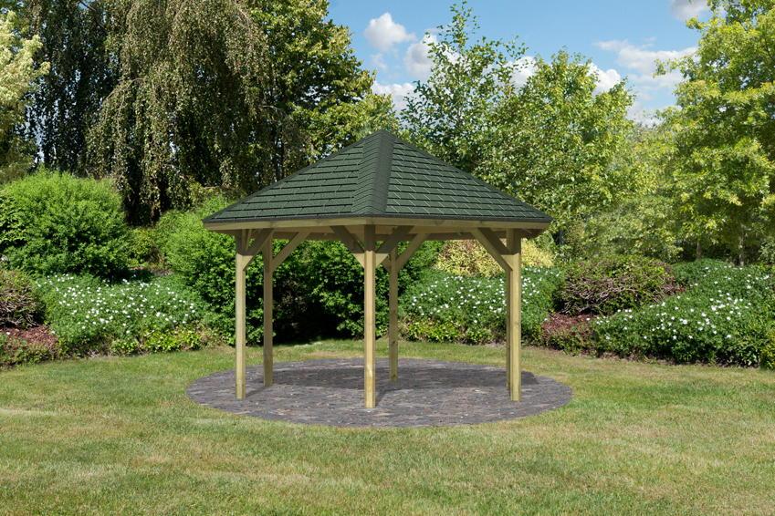 gartenpavillon holz rechteckig. Black Bedroom Furniture Sets. Home Design Ideas