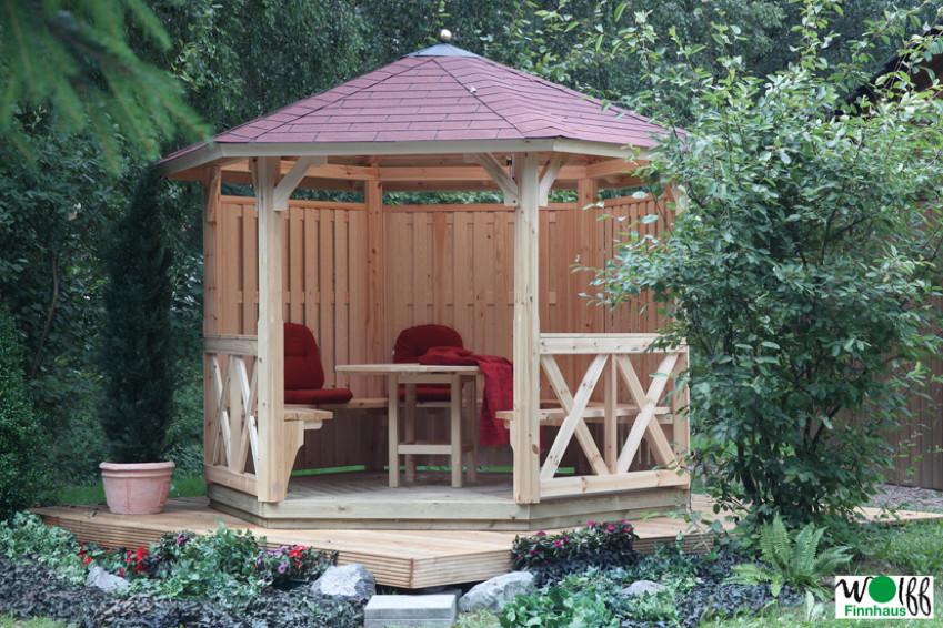 holz pavillon offen gartenpavillon 300x250cm holz angebot. Black Bedroom Furniture Sets. Home Design Ideas