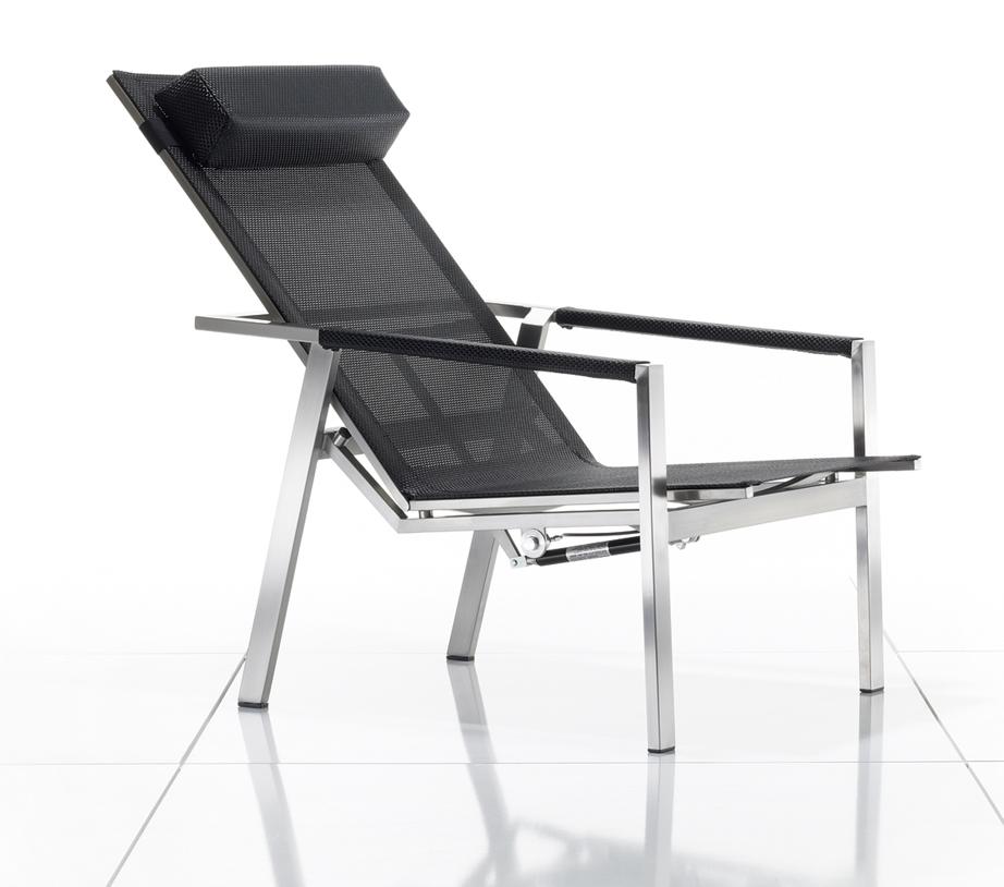 gartenstuhl solpuri allure deck chair coal edelstahlgestell textilene gartenm bel fachhandel. Black Bedroom Furniture Sets. Home Design Ideas