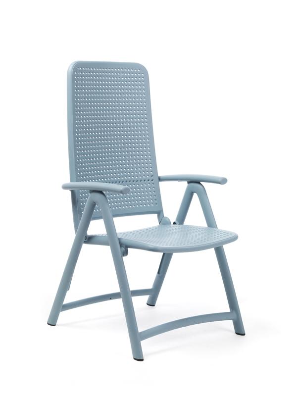 gartenstuhl nardi darsena hochlehner blau klappsessel kunststoffstuhl gartenm bel fachhandel. Black Bedroom Furniture Sets. Home Design Ideas