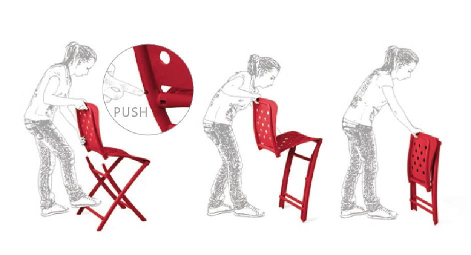 gartenstuhl nardi zac spring anthrazit klappstuhl. Black Bedroom Furniture Sets. Home Design Ideas