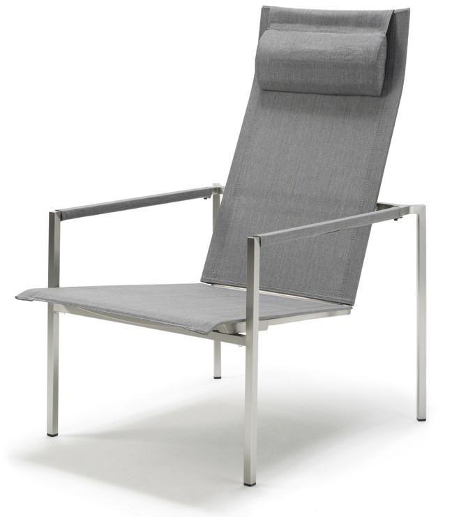 gartenstuhl solpuri pure deck chair edelstahl textilene silver grey gartenm bel fachhandel. Black Bedroom Furniture Sets. Home Design Ideas
