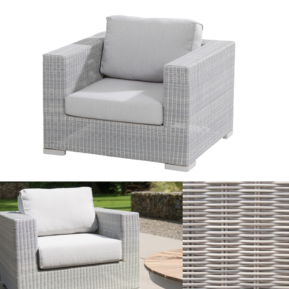 gartenstuhl lucca polyloom ice lounge sessel geflecht. Black Bedroom Furniture Sets. Home Design Ideas