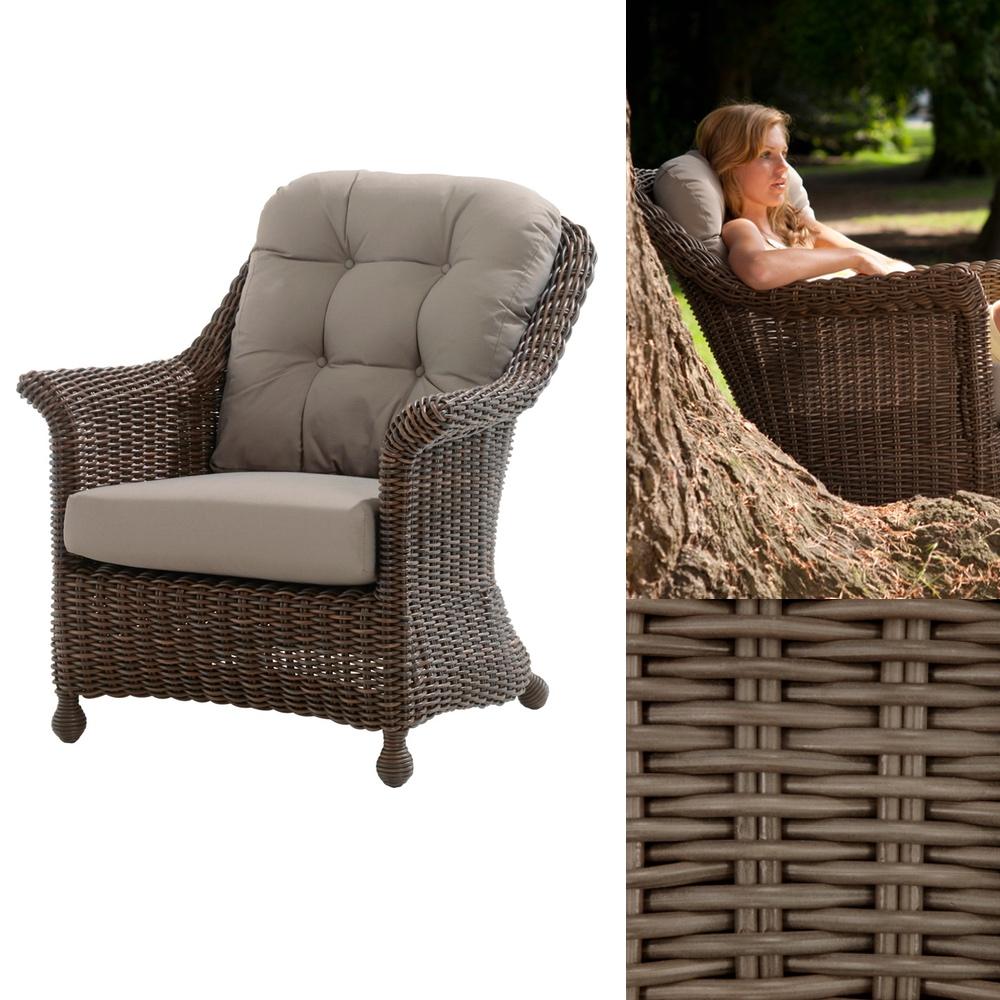 Gartenstühle rattan rund  Gartenstuhl 4Seasons «Madoera» Lounge-Sessel Polyrattan Premium ...