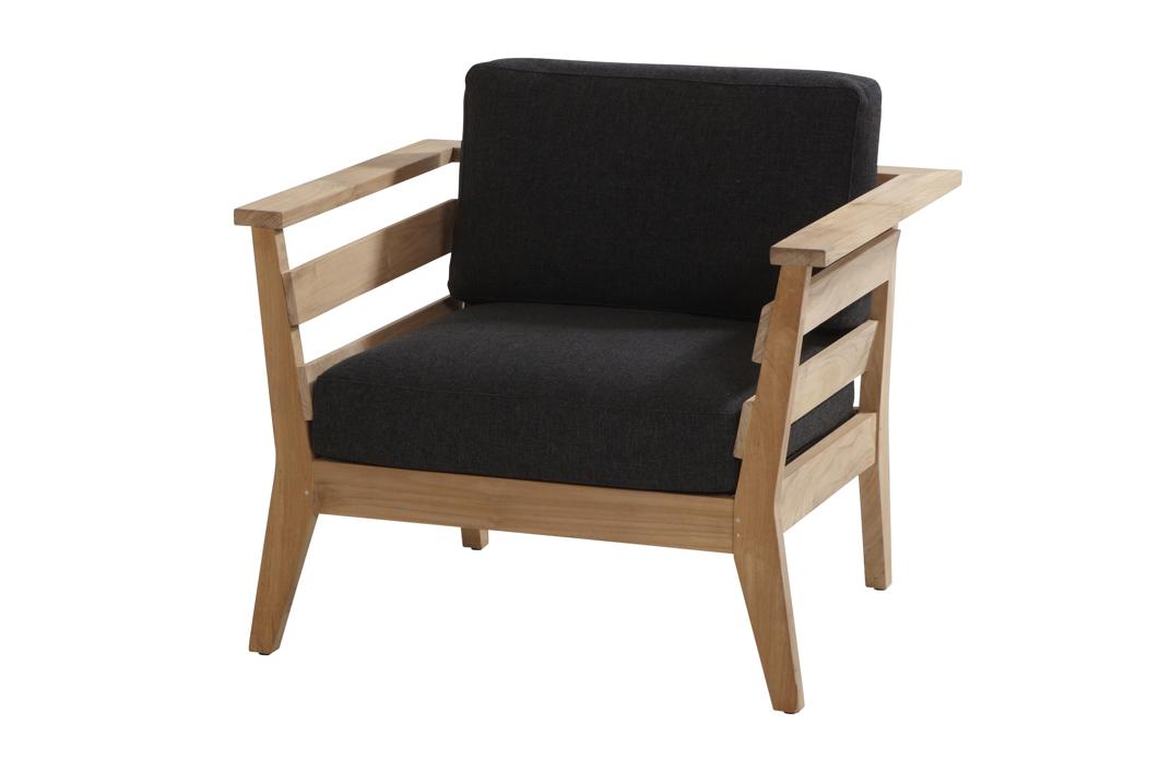 gartenstuhl 4seasons polo sessel loungesessel mit hocker set teak mit kissen gartenm bel. Black Bedroom Furniture Sets. Home Design Ideas