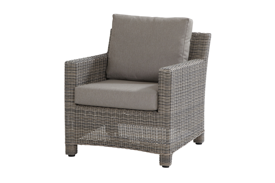 loungesessel rio cosy sessel roca polyrattan geflecht esstischhoch grau gartenm bel fachhandel. Black Bedroom Furniture Sets. Home Design Ideas