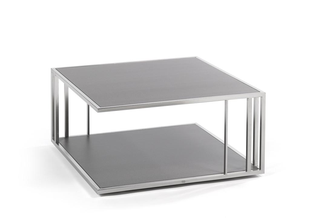 Gartentisch fischer suite beistelltisch 80x80 beton for Beistelltisch edelstahl holz