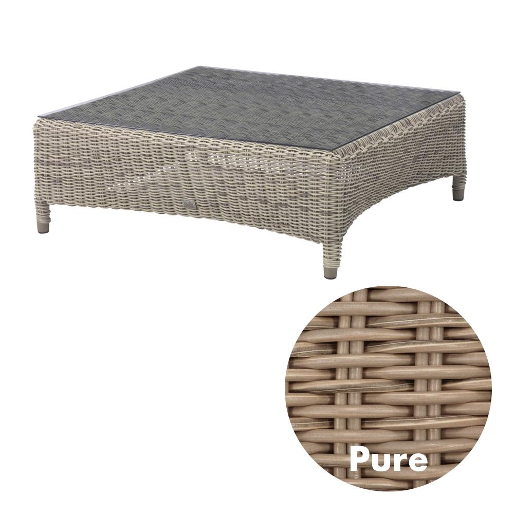 gartentisch valentine pure couchtisch 100x100cm korbtisch rattan holz angebot. Black Bedroom Furniture Sets. Home Design Ideas