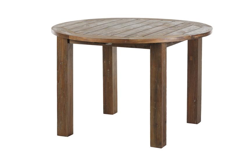 Luxus Esstisch Holz ~ Luxus TeakHolzGartentisch DIAMOND GARDEN «Belmont rund» Esstisch old teak