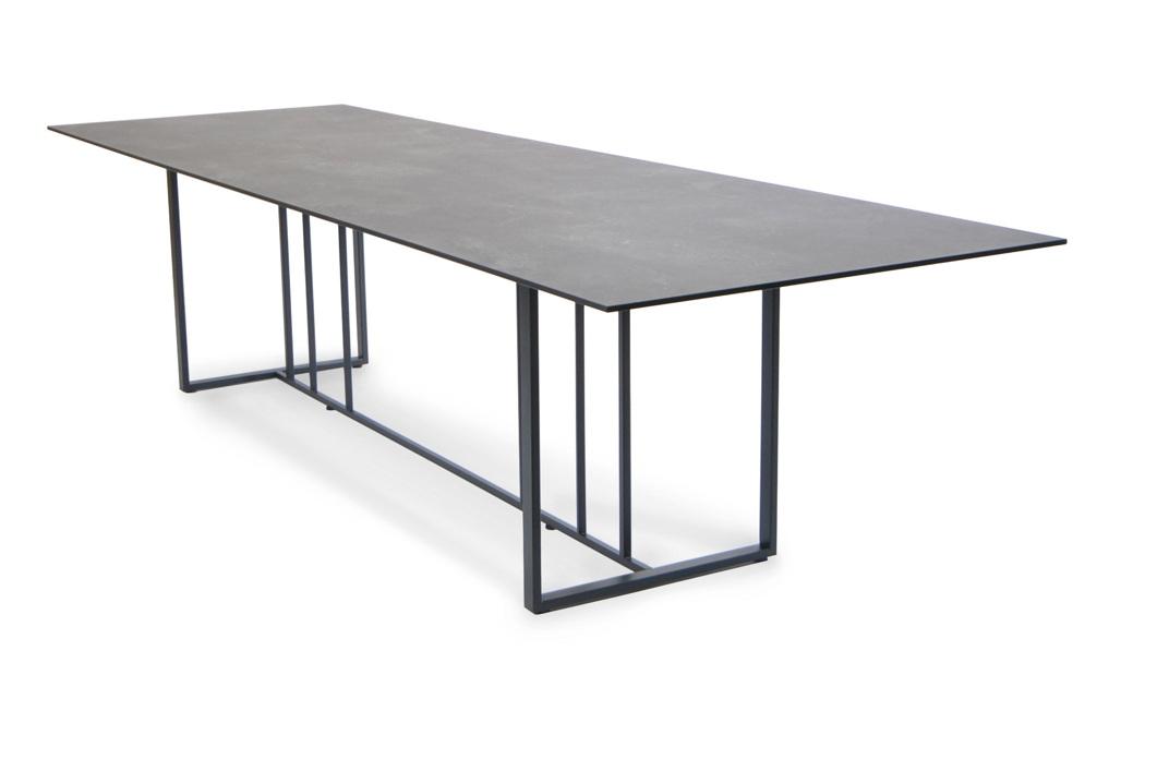 Gartentisch fischer suite esstisch 260x95 edelstahl matt for Esstisch viereckig