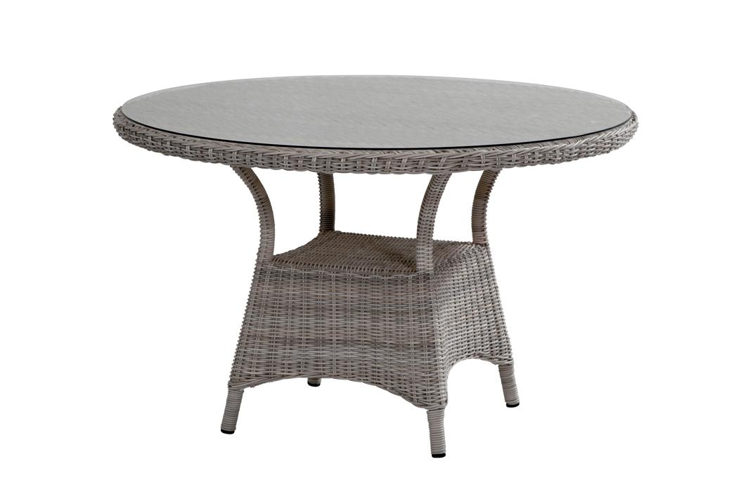 gartentisch penida roca esstisch rund polyrattan geflechttisch mit glasplatte gartenm bel. Black Bedroom Furniture Sets. Home Design Ideas