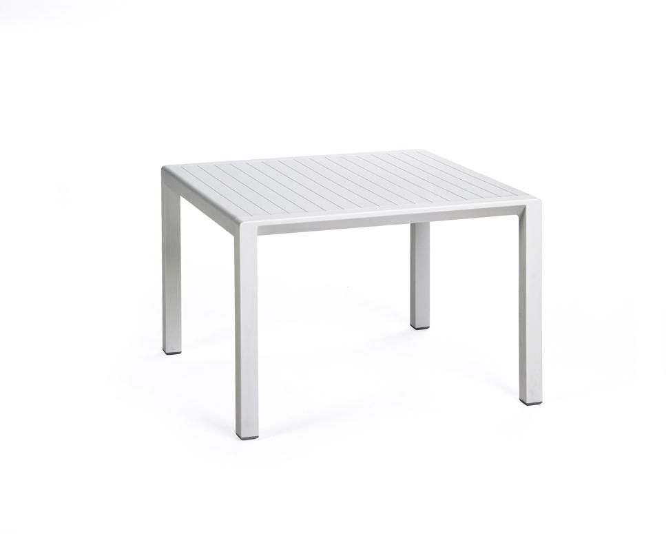 gartentisch nardi aria 60x60 wei couchtisch kunststofftisch gartenm bel fachhandel. Black Bedroom Furniture Sets. Home Design Ideas