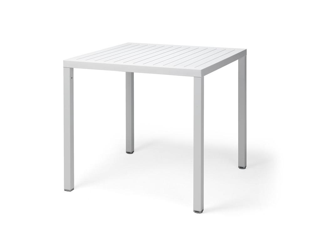 gartentisch nardi cube 80x80 wei esstisch. Black Bedroom Furniture Sets. Home Design Ideas