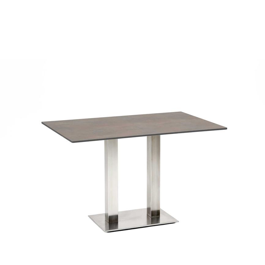 Gartentisch niehoff bistrotisch 138x95 hpl grau braun for Esstisch grau braun