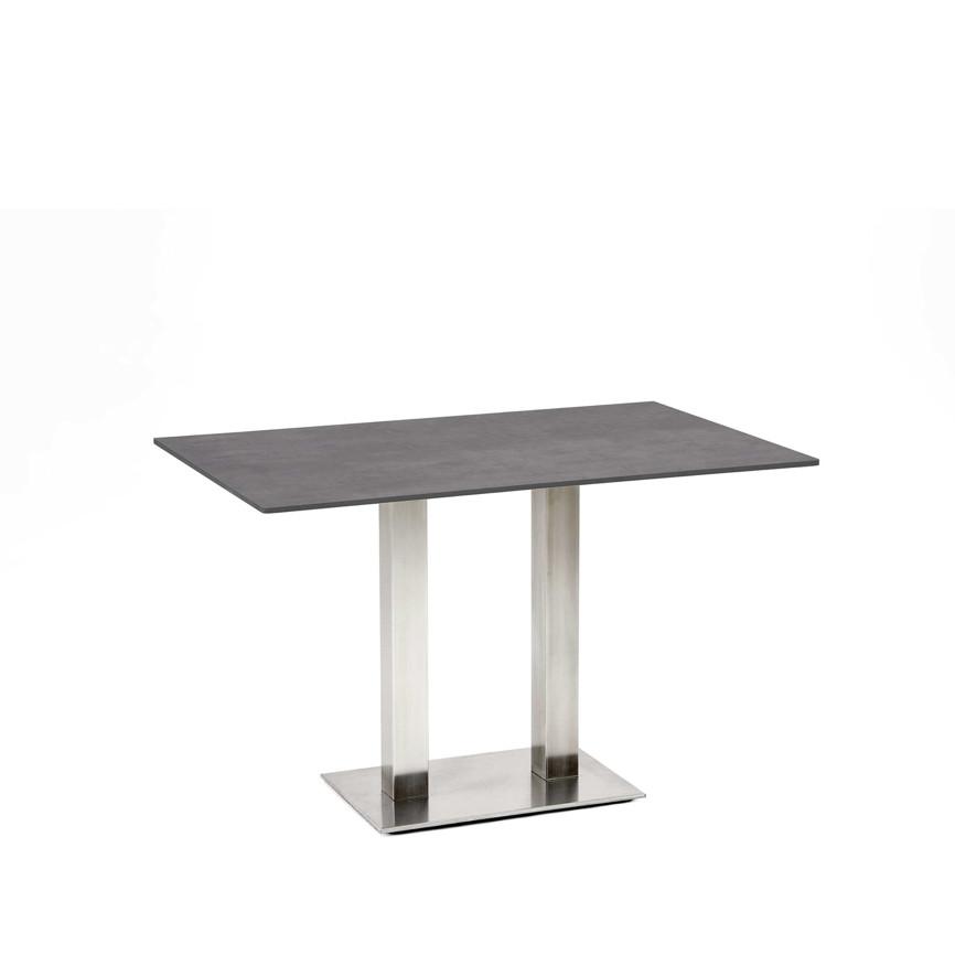 gartentisch niehoff bistrotisch 120x81 hpl beton design esstisch gartenm bel fachhandel. Black Bedroom Furniture Sets. Home Design Ideas